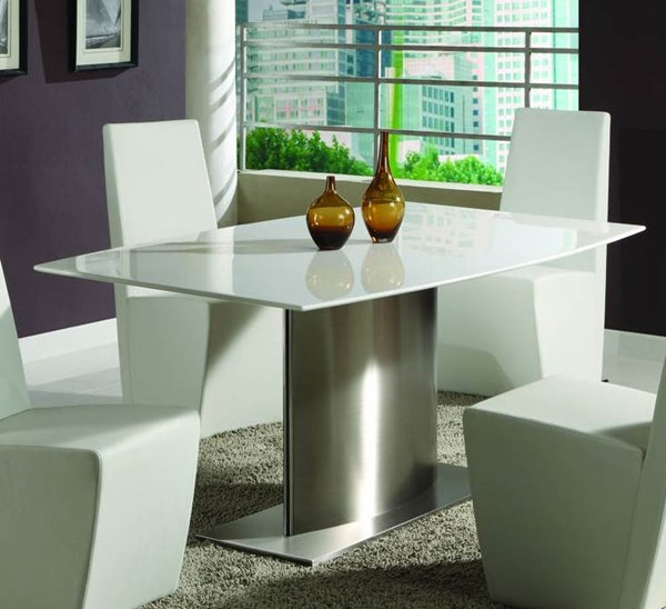 Cynthia White Surf Marble Dining Table Top CHF-CYNTHIA-DT-WHT-T