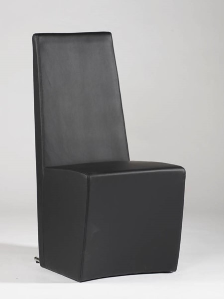 2 Cynthia Contemporary Black PU Fully Upholstered Side Chairs CHF-CYNTHIA-SC-BLK