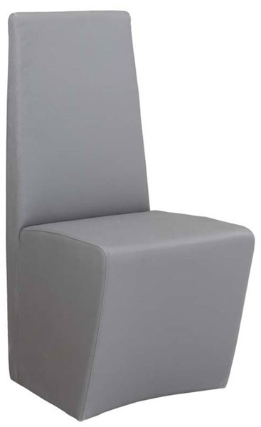 2 Cynthia Contemporary Grey PU Fully Upholstered Side Chairs CHF-CYNTHIA-SC-GRY