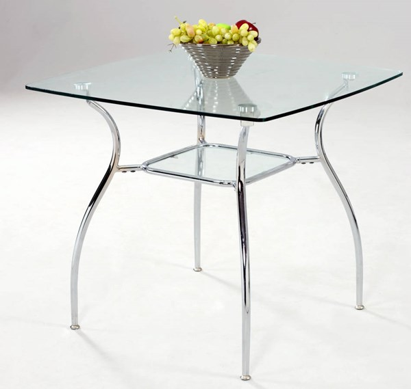 Daisy Square Tempered Glass Dining Table Top CHF-DAISY-DT-T