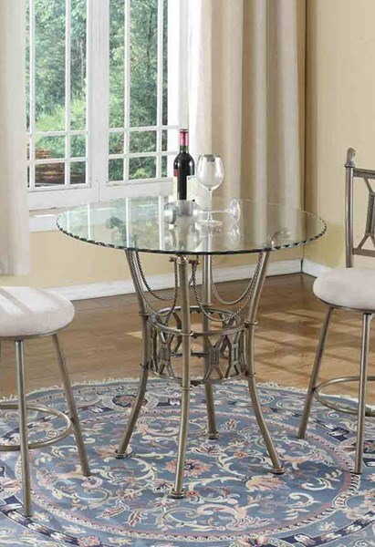 Darcy Matt Bronze 36 Inch Round Glass Hand Painted Counter Table CHF-DARCY-CNT