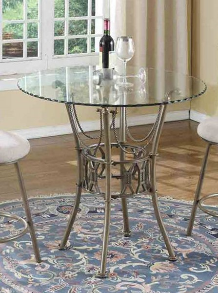 Chintaly Imports Darcy Matt Bronze Counter Height Table CHF-DARCY-CNT