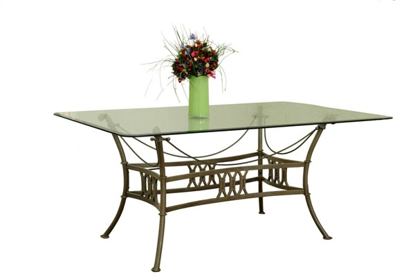 Darcy Traditional Rectangle Glass Dining Table Top CHF-DARCY-GL4272-T