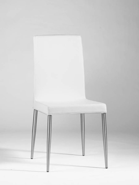 Upholstered Back White 2 Side Chairs Dawn-Sc-Wht CHF-DAWN-SC-WHT