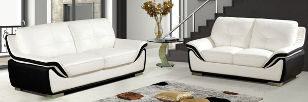 Standard White Black Bonded Leather Chair W/Cushion CHF-DECATOR-CHR