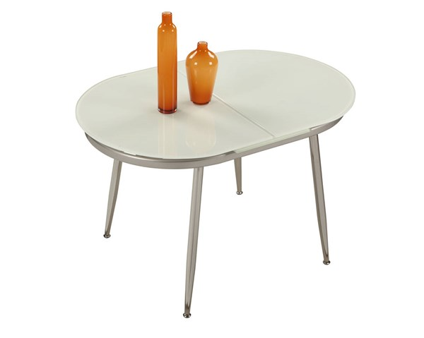 Chintaly Imports Donna Chrome Dining Table CHF-DONNA-DT