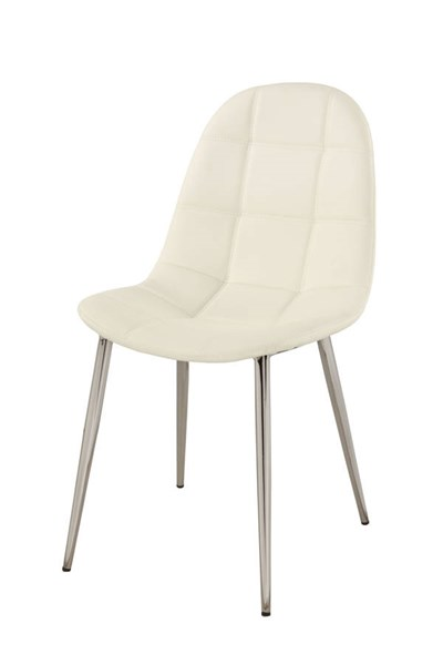 4 Donna Contemporary White PU Upholstered Back Side Chairs CHF-DONNA-SC-WHT