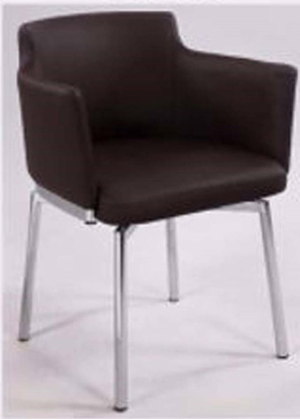 Club Style Brown Swivel Arm Chair (Set Of 2) Dusty-Ac-Brw-Kd CHF-DUSTY-AC-BRW-KD