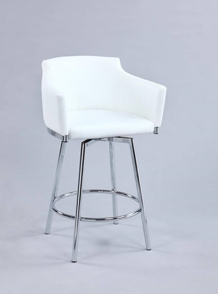 Chintaly Imports Dusty White Swivel Club Counter Height Stool CHF-DUSTY-CS-WHT