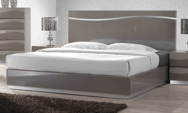 Delhi Gloss Grey Wood King Bed Headboard CHF-DELHI-BED-KG-HB
