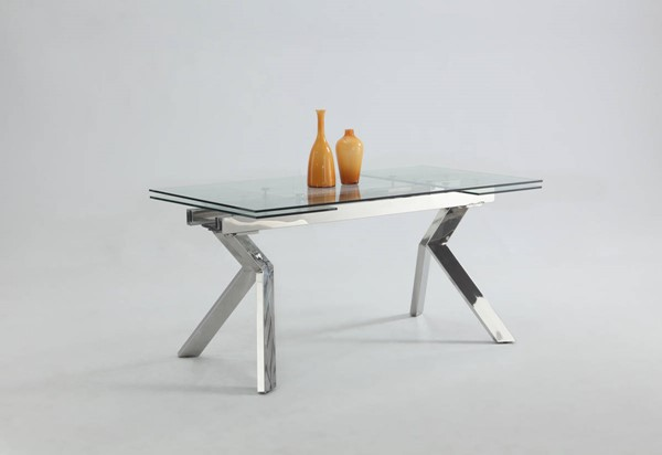 Ella Modern Glass Butterfly Extension Dining Table Top CHF-ELLA-DT-T