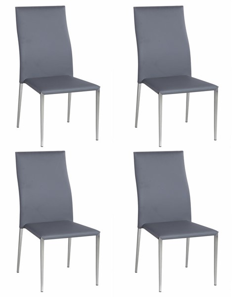 4 Chintaly Imports Elsa Gray Side Chairs CHF-ELSA-SC-GRY