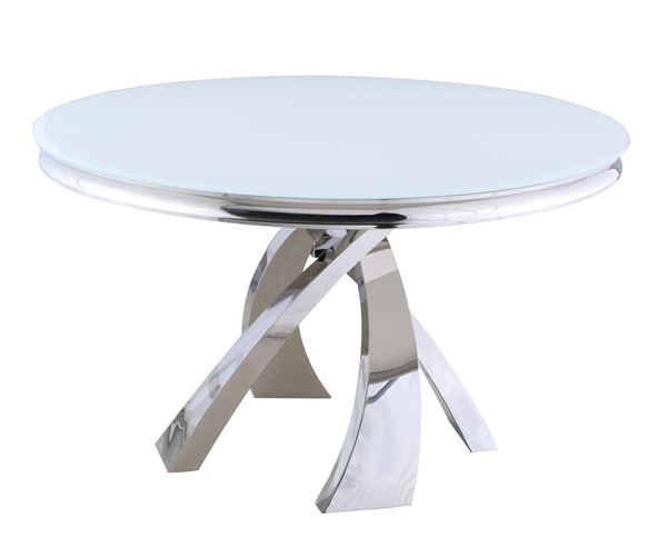 Chintaly Imports Erin Polished White Dining Table CHF-ERIN-DT