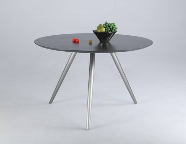 Esther Grey Stainless Steel Round Taped Table Legs CHF-ESTHER-DT-B