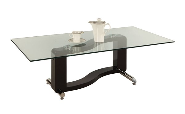 Fenya Modern Rectangular Cocktail Table w/Clear Tempered Glass Top CHF-FENYA-CT-T