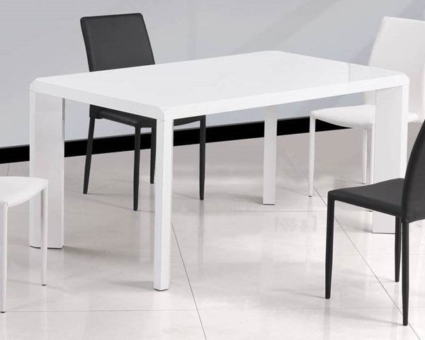 Fiona Gloss White Solid Top Dining Table CHF-FIONA-DT-TB