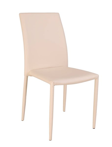 4 Fiona Apricot PU Fully Upholstered Stackable Side Chairs CHF-FIONA-SC-APR