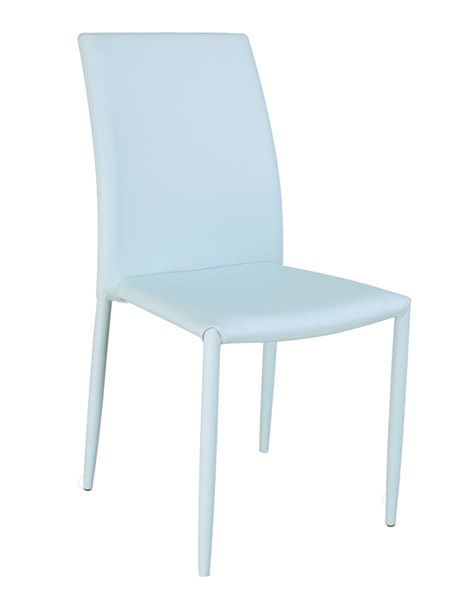 4 Fiona Blue PU Fully Upholstered Stackable Side Chairs CHF-FIONA-SC-BLU