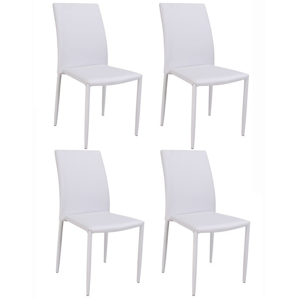 4 Chintaly Imports Fiona Gray Side Chairs CHF-FIONA-SC-GRY