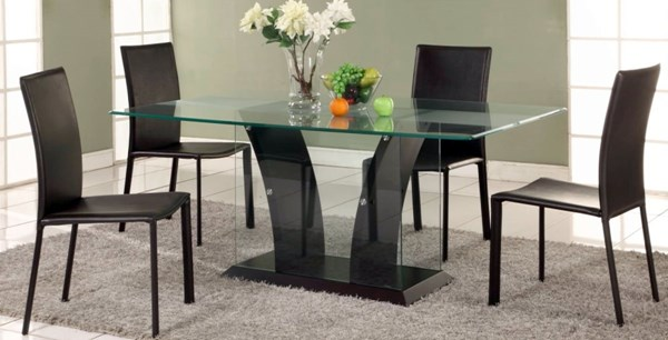 Dining Table W/Partially Frosted Glass Table Top Flair-Dt-T CHF-FLAIR-DT-T