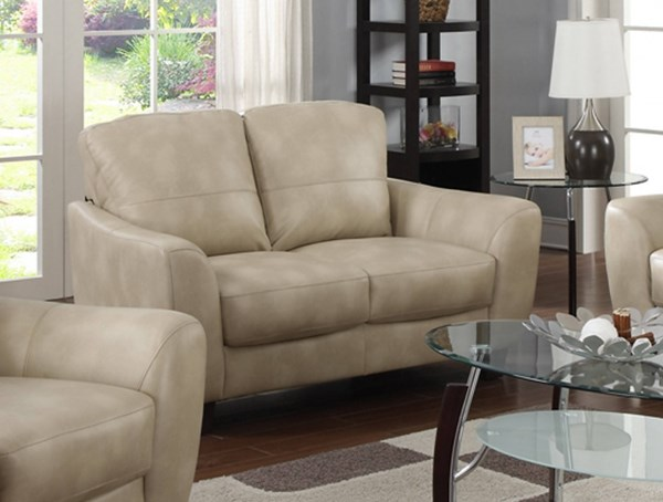 Fremont Modern Taupe Bonded Leather Club Love Seat CHF-FREMONT-LVS-TPE