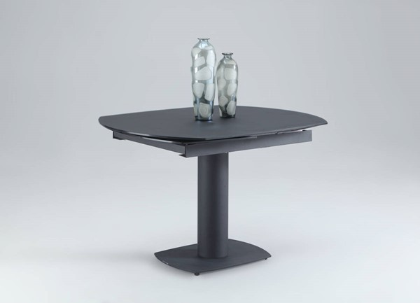 Grace Black Metal Round Dining Table Column CHF-GRACE-DT-BLK-M