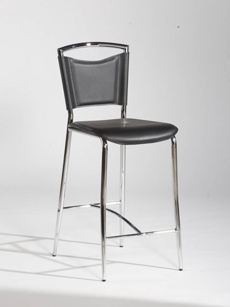 4 Elaine Modern Black PVC Counter Height Stool / Bar Height Stools CHF-GWEN-CS-BS-VAR