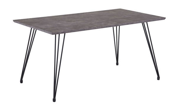 Chintaly Imports Heather Brown Black Dining Table CHF-HEATHER-DT