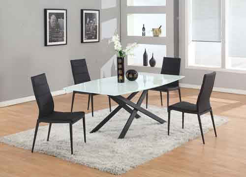 Chintaly Imports Jackie Black 5pc Dining Room Set CHF-JACKIE-5PC-BLK