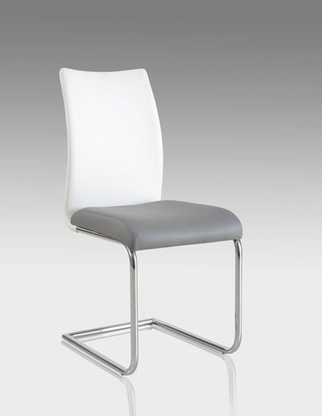 4 Chintaly Imports Jane Chrome Side Chairs CHF-JANE-SC-2TONE