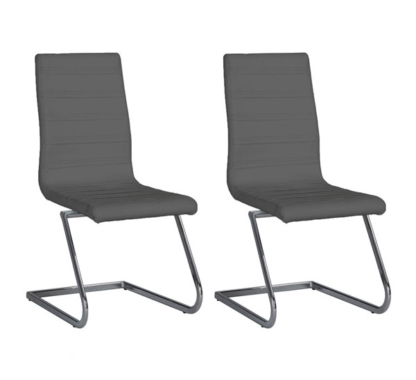 2 Chintaly Imports Janet Gray Side Chairs CHF-JANET-SC