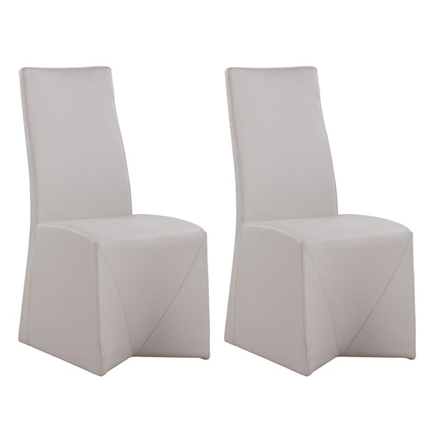 2 Chintaly Imports Janna Light Gray Side Chairs CHF-JANNA-SC-NUD
