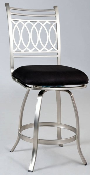 Julia Black Suede Memory Return Swivel Counter Stool CHF-JULIA-CS