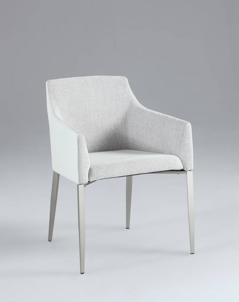Katie Grey Fabric Cushion Accent Side Chair CHF-KATIE-AC-GRY