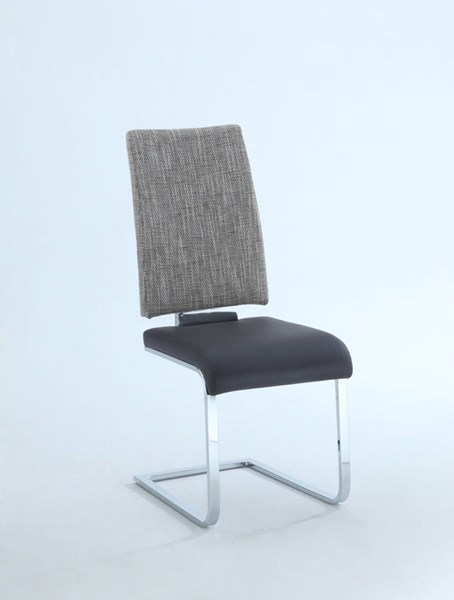 4 Labrenda Brown PU Fabric Cantilever Chrome Frame Side Chairs CHF-LABRENDA-SC-BRW