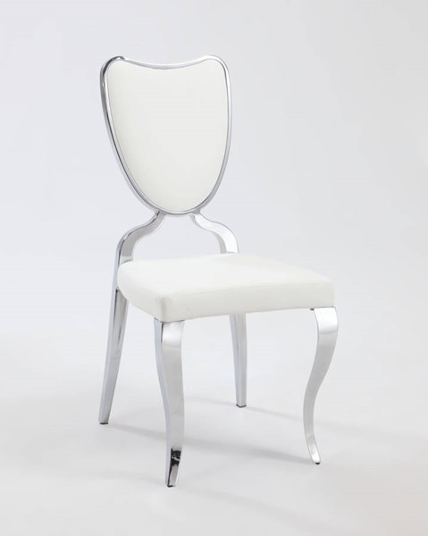2 Lacey Traditional White PU Heart Back Cabriole Designed Legs Chairs CHF-LACEY-SC-WHT
