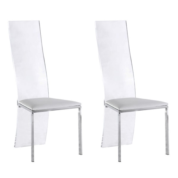 2 Chintaly Imports Layla Polished Side Chairs CHF-LAYLA-SC-DR-CH-VAR