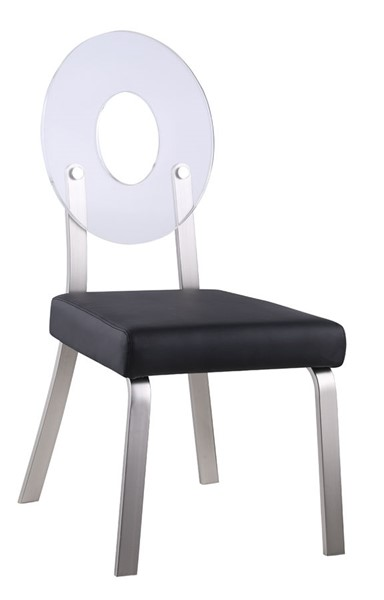 2 Chintaly Imports Lenor Brushed Black Side Chairs CHF-LENOR-SC-BLK