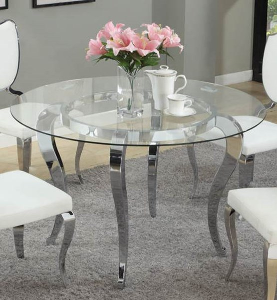 Letty Traditional Chrome Cabriole Designed Legs Dining Table Base CHF-LETTY-DT-B