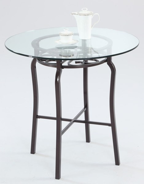 Lily Traditional Hammered Brown Glass Metal Counter Table CHF-LILY-CNT-TB