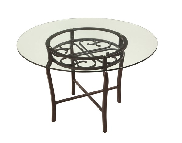 Lily Traditional Hammered Brown Dining Table Base CHF-LILY-DT-B