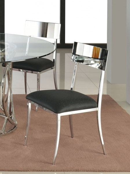 4 Lindsay Contemporary Black PU Open Back Side Chairs CHF-LINDSAY-SC-BLK