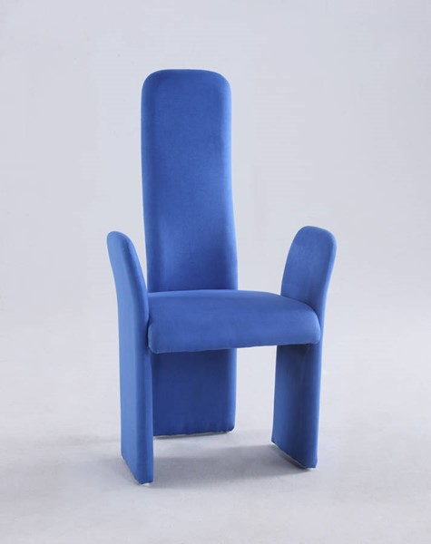 2 Chintaly Imports Lucy Blue High Contour Back Arm Chair CHF-LUCY-AC-BLU