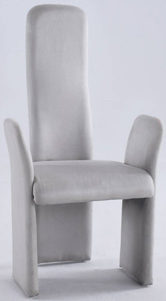 2 Chintaly Imports Lucy Grey High Contour Back Arm Chair CHF-LUCY-AC-GRY