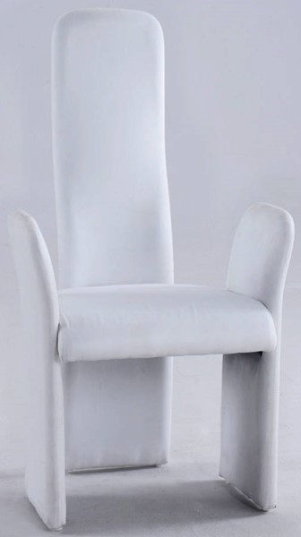 2 Chintaly Imports Lucy White High Contour Back Arm Chair CHF-LUCY-AC-WHT