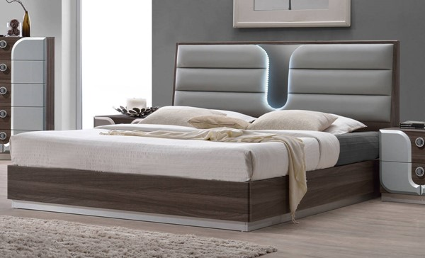 London Modern Wood Queen Bed Footboard & Side Rails CHF-LONDON-BED-QN-FBSR