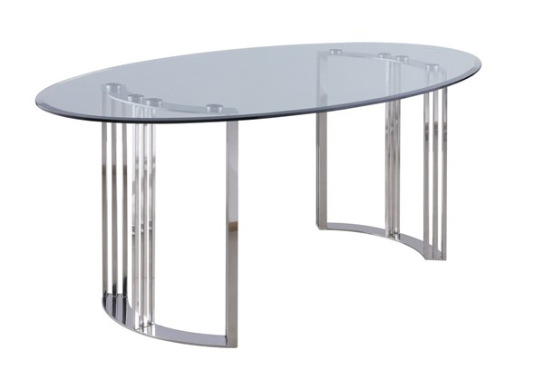 Chintaly Imports Maiden Clear Polished Dining Table CHF-MAIDEN-DT