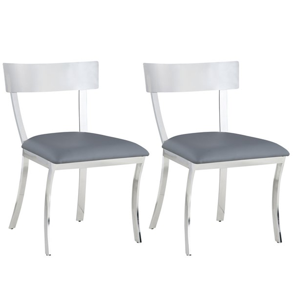 2 Chintaly Imports Maiden Side Chairs CHF-MAIDEN-SC-DR-CH-VAR