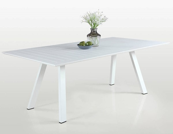 Chintaly Imports Malibu Outdoor Large Rectangular Table CHF-MALIBU-DT-WHT