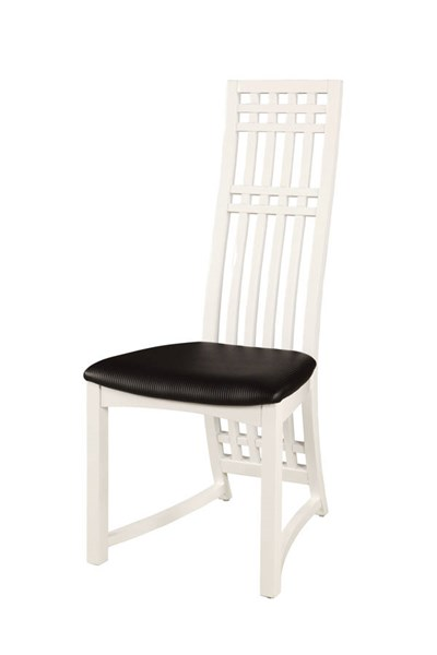 2 Margaret Gloss White PVC High Back Lacquer Side Chairs CHF-MARGARET-SC-WHT